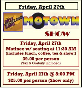 Dave Macklin Band Motown Show @ Common Market