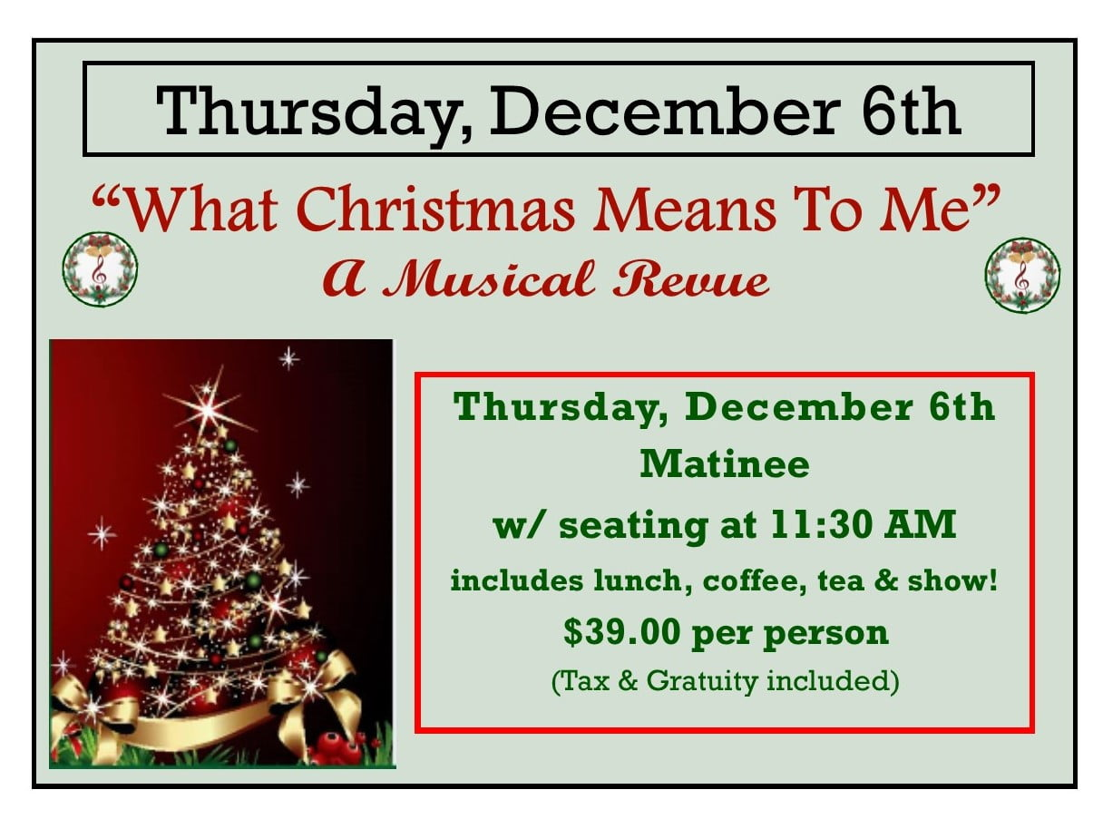 what christmas means to me thursday matinee common market restaurants
